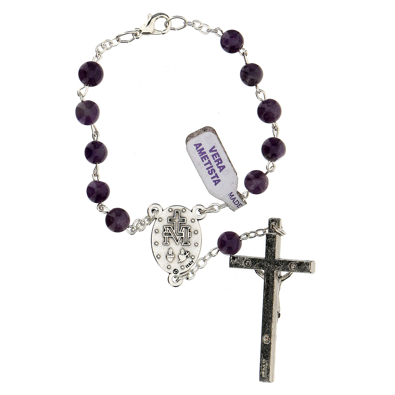 Decade rosary in amethyst 6 mm 4