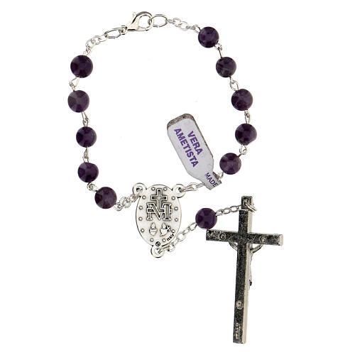 Decade rosary in amethyst 6 mm 2