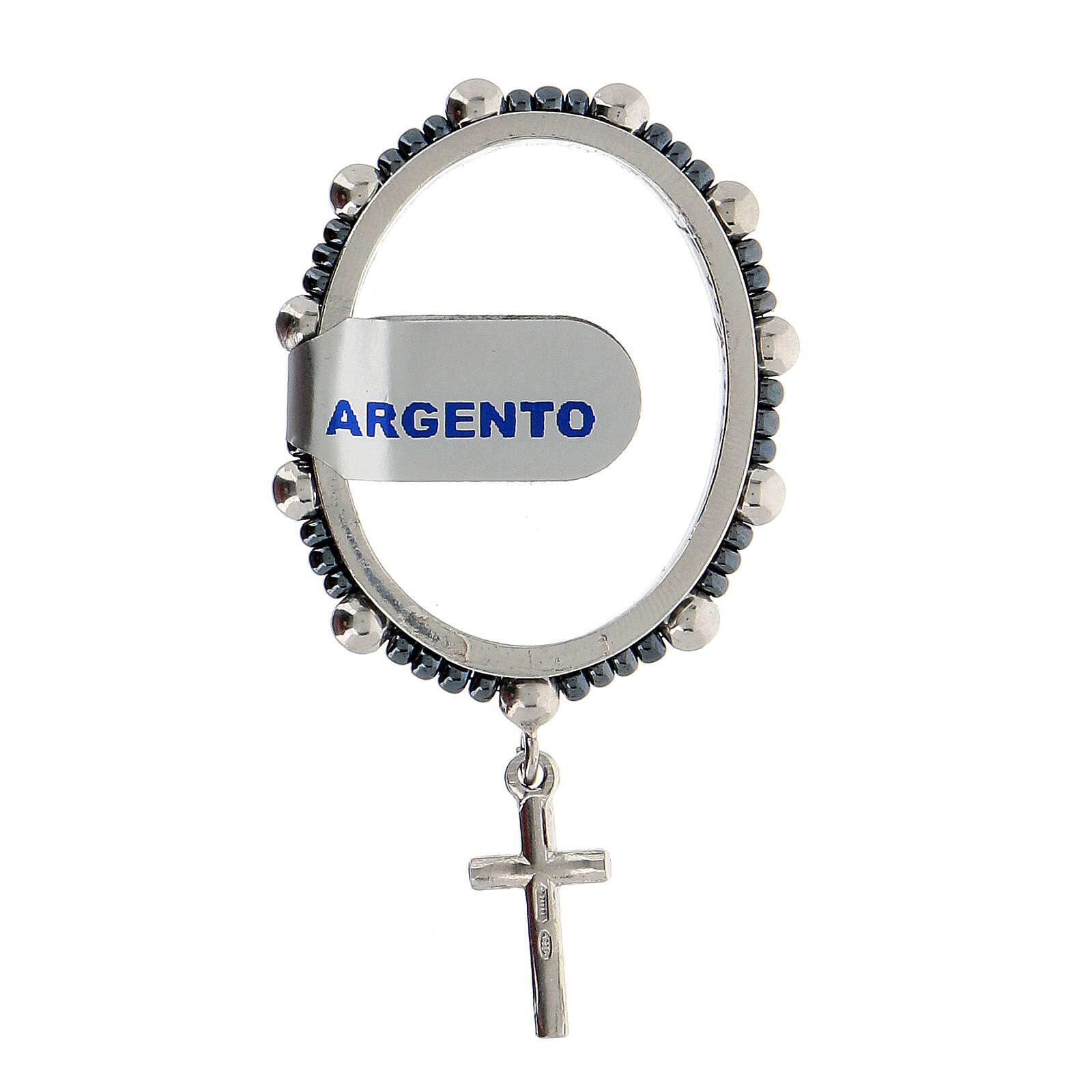 Chapelet pivotant dizainier argent 925 grains 4 mm 4
