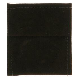 Preghierino grani agata blu 4 mm girevole decina argento 925 s5
