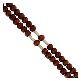 Bright wood Franciscan rosary s3