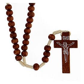 Rosarios de madera: Rosario franciscano madera clara