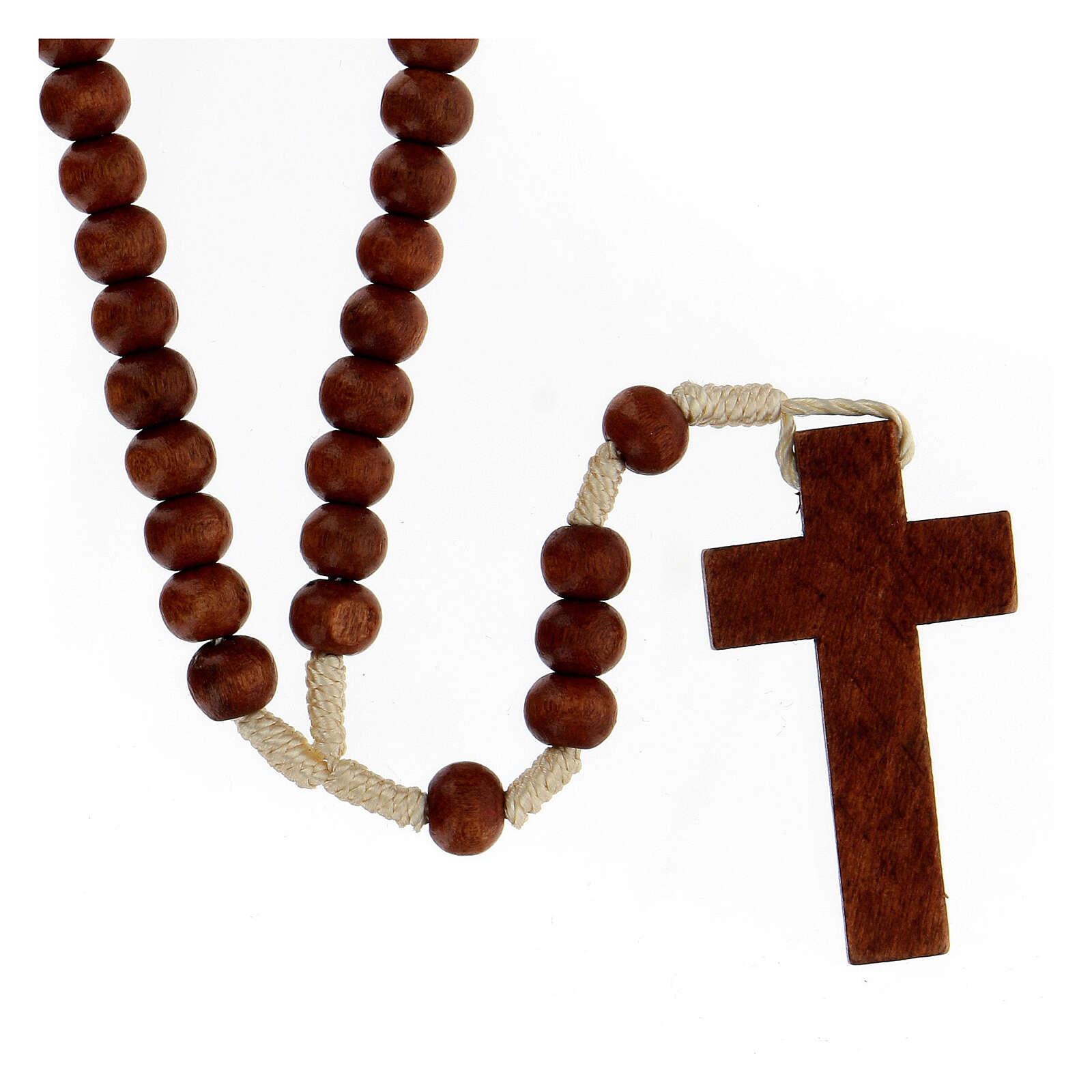 Terço franciscano madeira clara 4