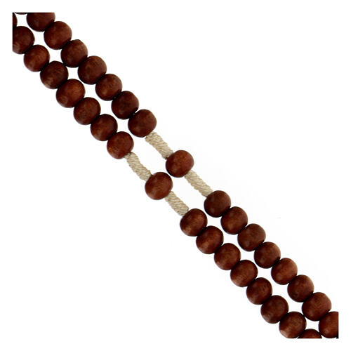 Bright wood Franciscan rosary 3