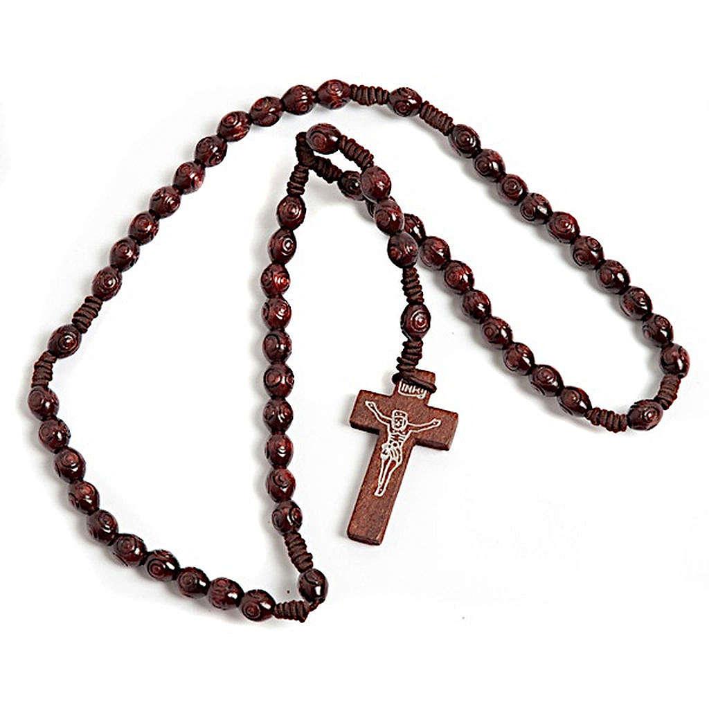 Rosario franciscano elástico oval obscuro 4