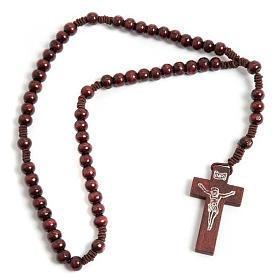 Terço franciscano elástico redondo escuro s1