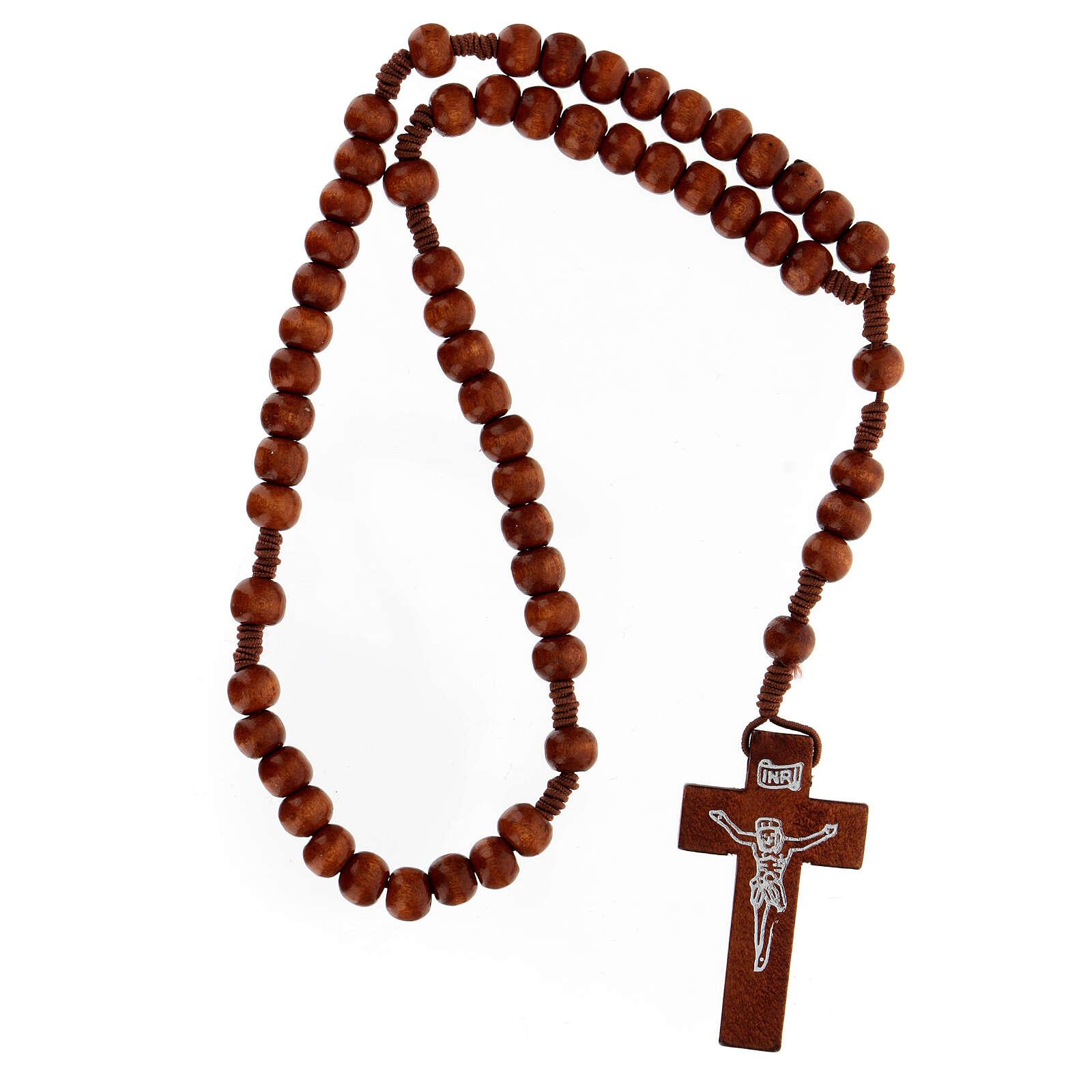 Rosario franciscano elástico redondo claro 4