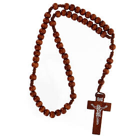 Stretchable Franciscan rosary, dark wood s4