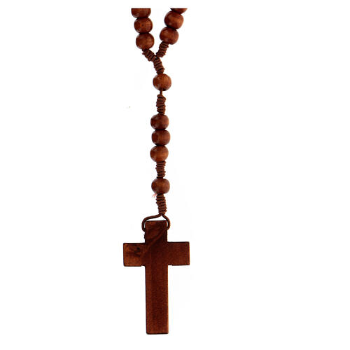 Stretchable Franciscan rosary, dark wood 2