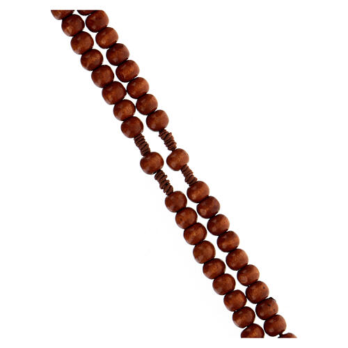 Stretchable Franciscan rosary, dark wood 3