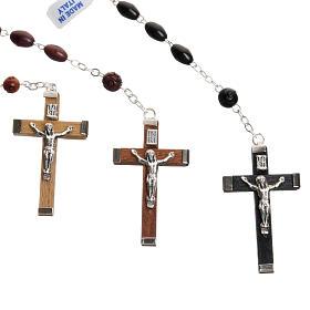 Oval bead coconut rosary s3