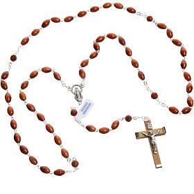 Oval bead coconut rosary s7