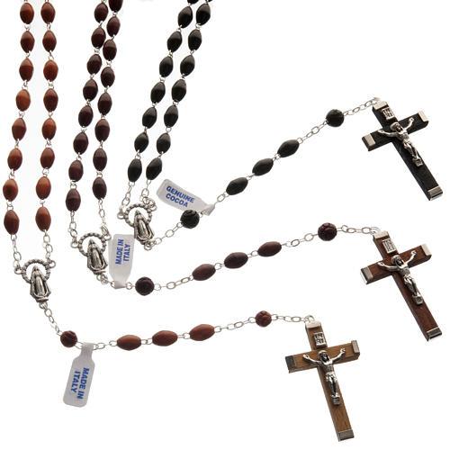 Oval bead coconut rosary 2