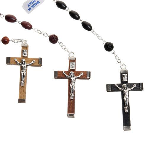 Oval bead coconut rosary 3