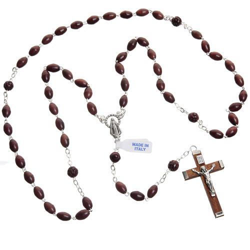 Oval bead coconut rosary 8