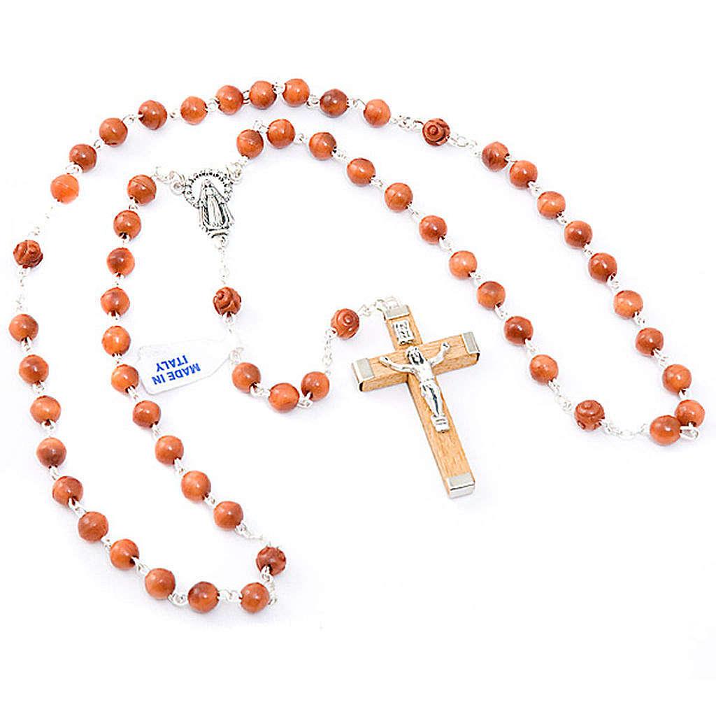 Round bead coconut rosary 4