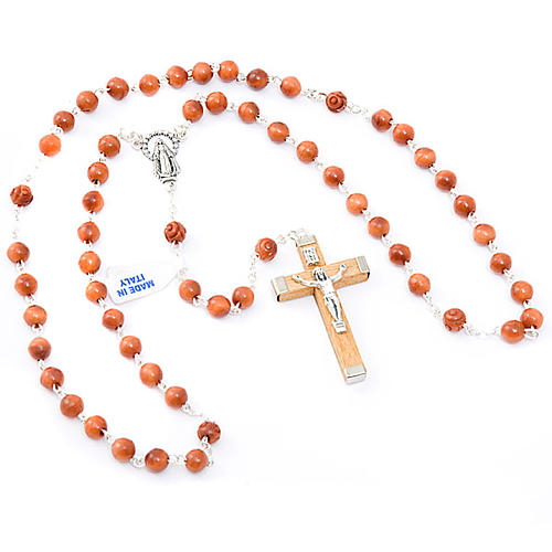 Round bead coconut rosary 3