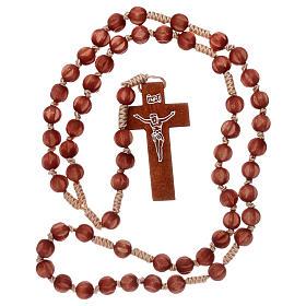 Rosario francescano intarsiato chiaro s4