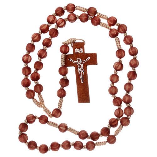 Rosario francescano intarsiato chiaro 4