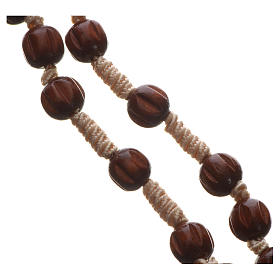 Bright carved wood Franciscan rosary s3