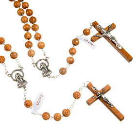 Natural olive wood rosary s1