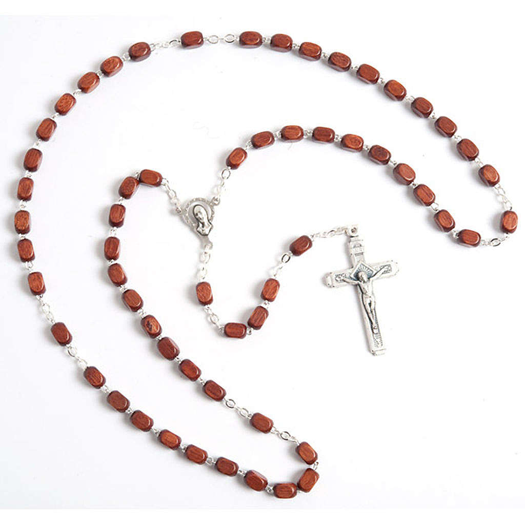 Faceted coconut-effect beads rosary 4