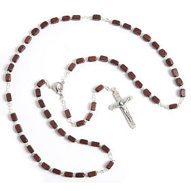 Faceted coconut-effect beads rosary s6