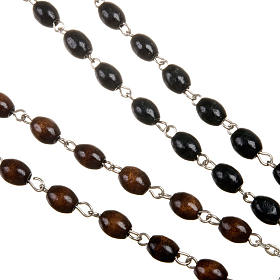 Wood rosary with oval 7mm beads s4