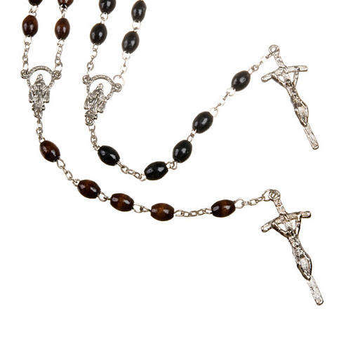 Wood rosary with oval 7mm beads 1