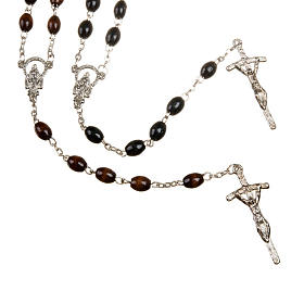 Wood rosary with oval 7mm beads s1