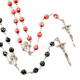 Wood rosaries: Coloured flowers wood rosary