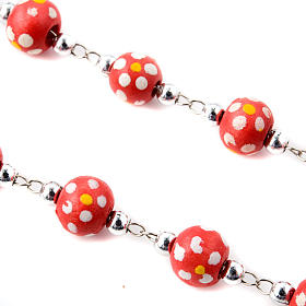 Coloured flowers wood rosary s3