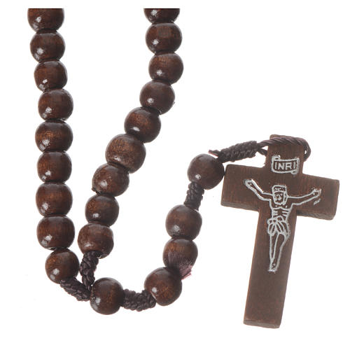 Dark wood rosary beads 1