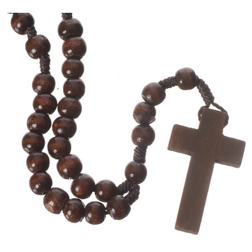 Dark wood rosary beads 2