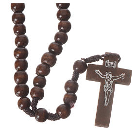 Dark wood rosary beads s1