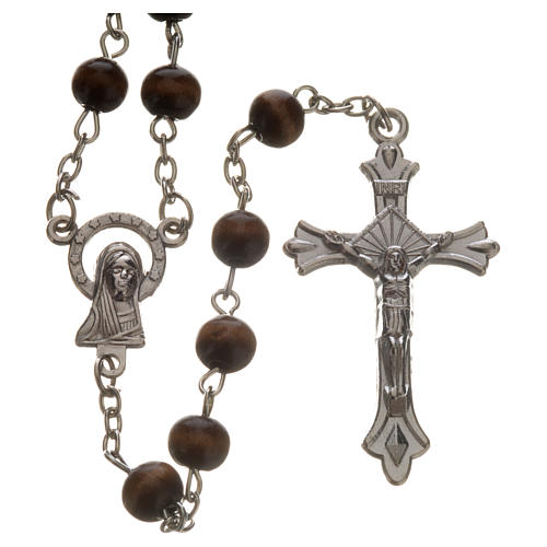 Wood rosary with 7mm beads 1