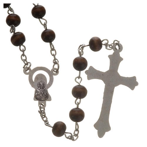 Wood rosary with 7mm beads 2