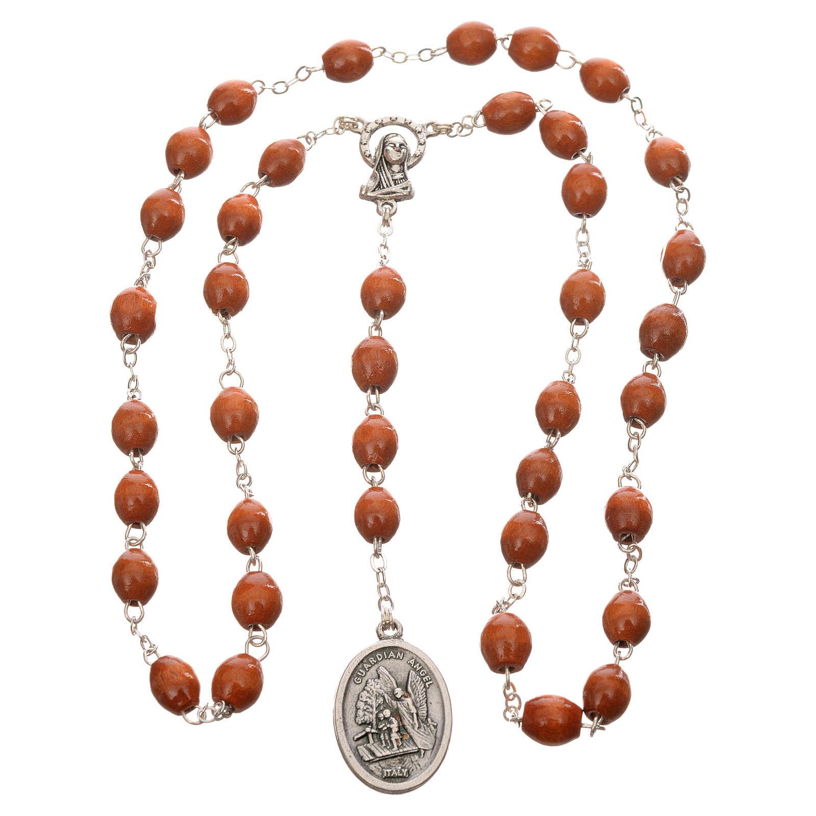 Rosario de madera redondo San Miguel Arcangel 4