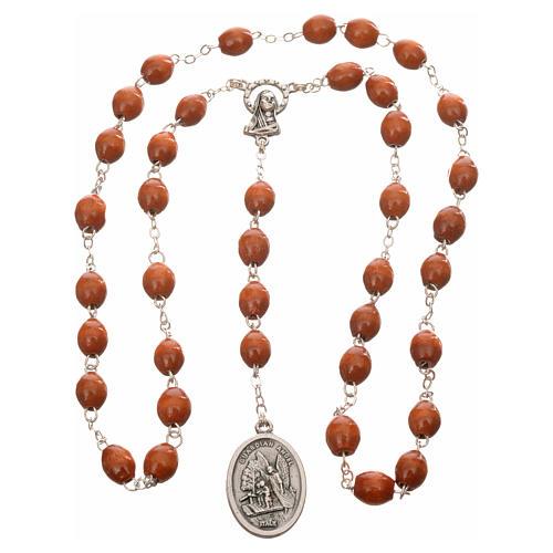 Rosario de madera redondo San Miguel Arcangel 3