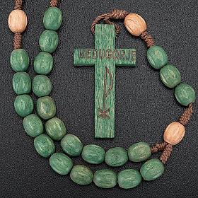 Rosario de madera Medjugorje granos coloreados s4