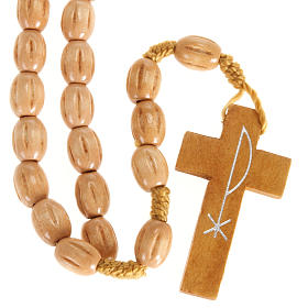 Rosario olivo Terrasanta croce Jerusalem corda s2