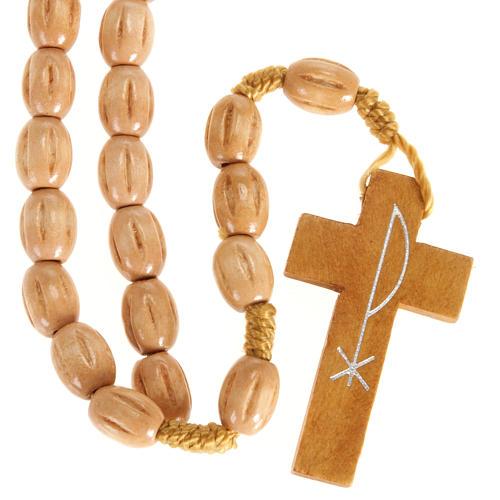 Rosario olivo Terrasanta croce Jerusalem corda 2