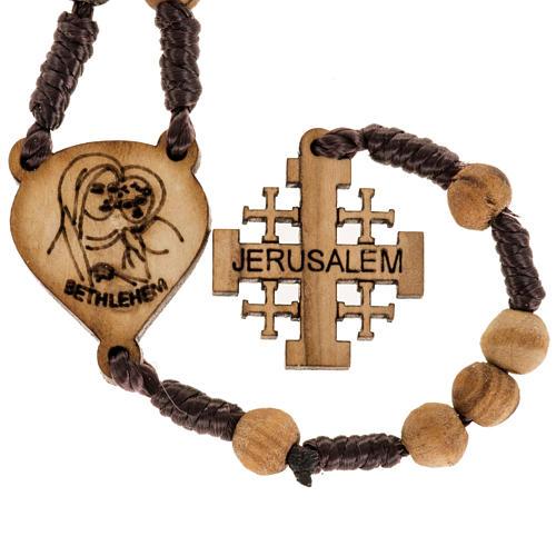 Rosario olivo Terrasanta croce Jerusalem corda 5