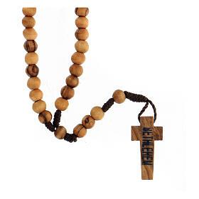 Mini rosario olivo Tierra Santa cuerda 6mm s2