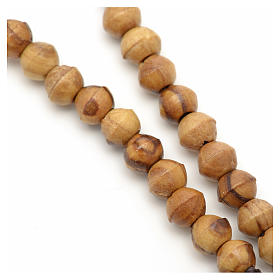 Mini rosario olivo Terrasanta corda corda 6 mm s6