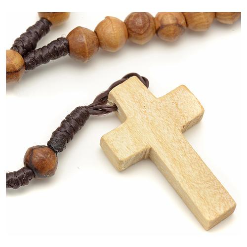 Mini rosario olivo Terrasanta corda corda 6 mm 1