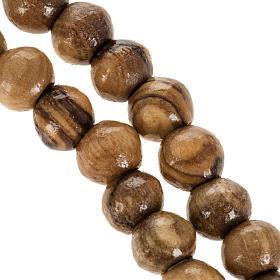 Rosario Terrasanta olivo corda croce legno 8 mm s3