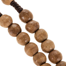 Rosary beads in Palestinian olive wood and rope 8 mm s3