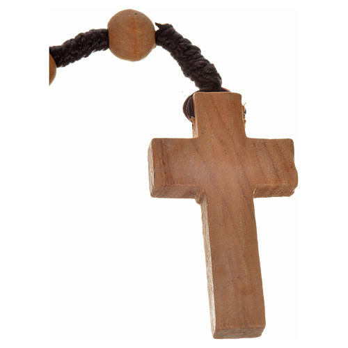 Rosary beads in Palestinian olive wood and rope 8 mm 6