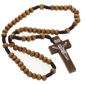 Small rosary in naturaly wood 5mm s2